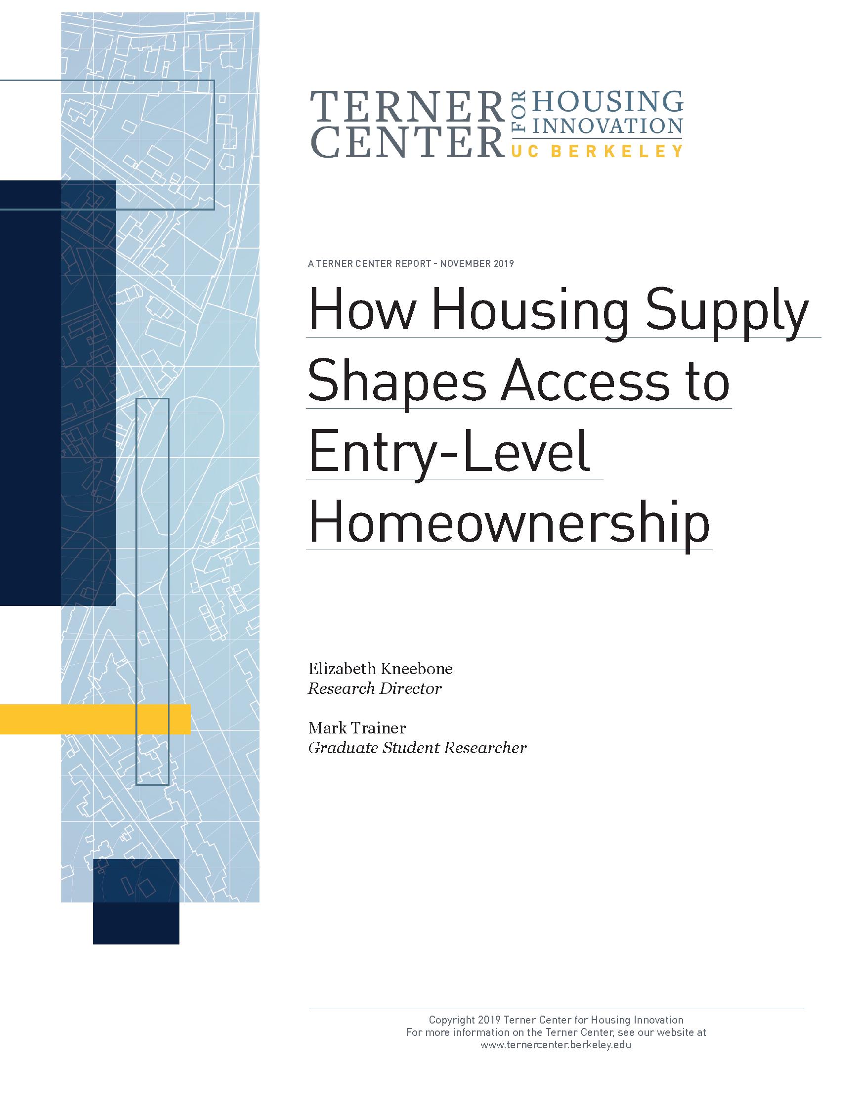 Supply and Access Homeownership PDF