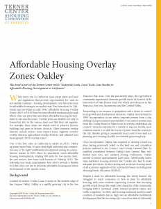 Affordable Housing Overlay Zones Brief Cover Page