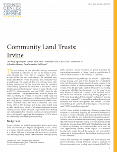 Community Land Trusts Brief Cover Page