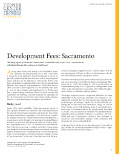 Development Fees Brief Cover Page