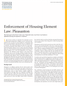 Enforcement of Housing Element Law Brief Cover Page