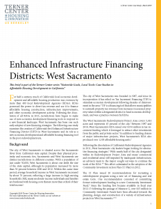 Enhanced Infrastructure Financing Districts Brief Cover Page