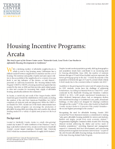 Housing Incentive Programs Brief Cover Page