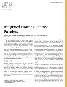 Integrated Housing Policies Brief Cover Page