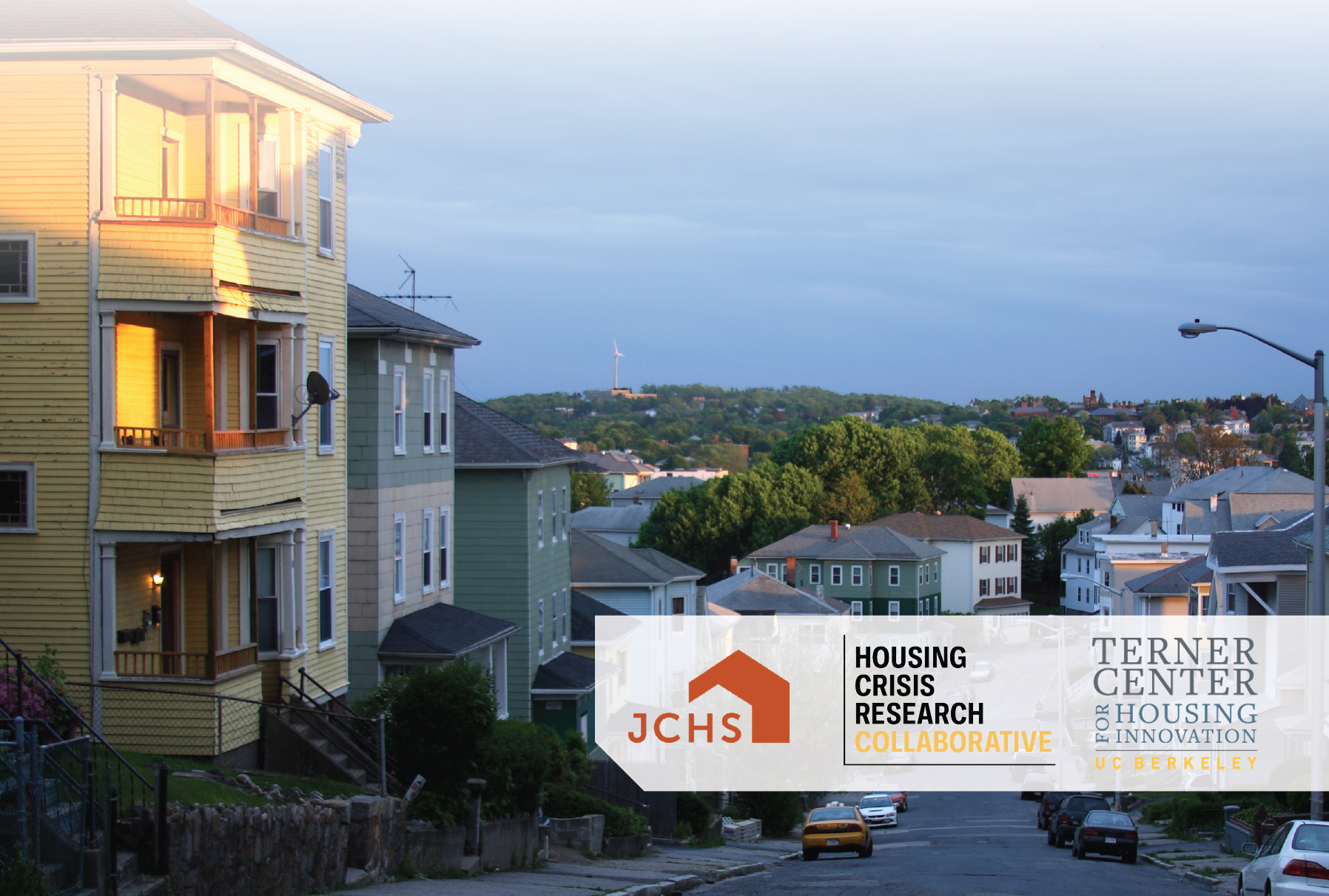 Cover image, JCHS, Housing Crisis Research Collaborative, Terner Center logos